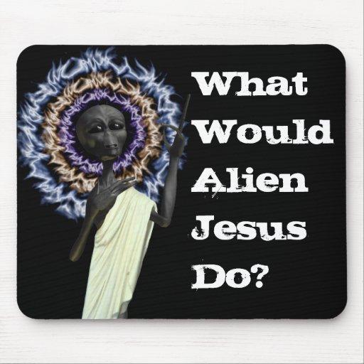 New Alien Jesus Designs Mouse Pad