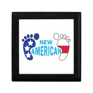 NEW AMERICAN BABY FEET KEEPSAKE BOX