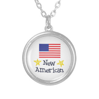 NEW AMERICAN BABY ROUND PENDANT NECKLACE