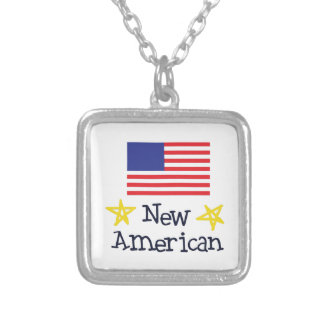NEW AMERICAN BABY SQUARE PENDANT NECKLACE