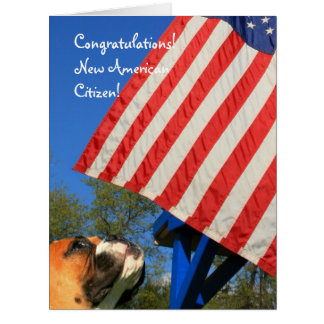 New American Citizen boxer big  greeting card
