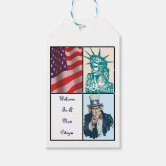 New American Citizen Gift Tags