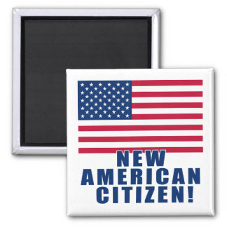 New American Citizen Gifts and Tshirts 2 Inch Square Magnet