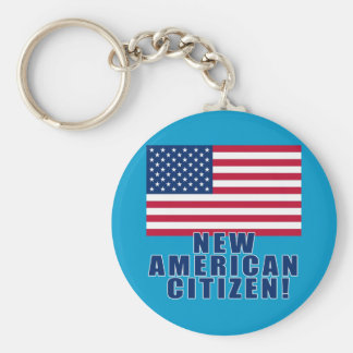 New American Citizen Gifts and Tshirts Basic Round Button Keychain
