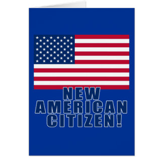 New American Citizen Gifts and Tshirts Card