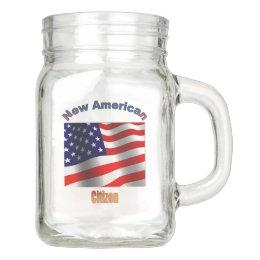 New American Citizen Mason Jar