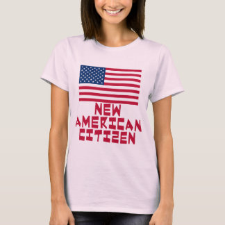 New American Citizen with American Flag T-Shirt