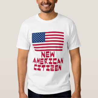 New American Citizen with American Flag T Shirts