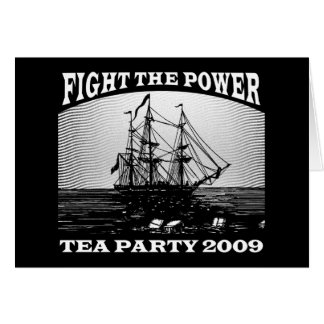New American Tea Party 2009 Greeting Card