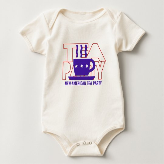 New American Tea Party Baby Bodysuit