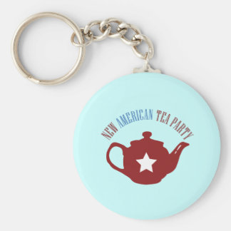 New American Tea Party Keychain