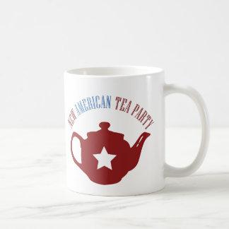 New American Tea Party Classic White Coffee Mug