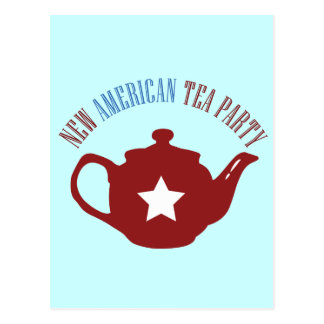 New American Tea Party Postcard