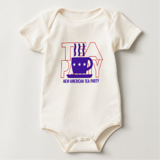 New American Tea Party Baby Bodysuits