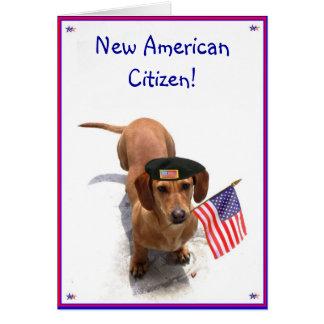 New AmericanCitizen Dachshund greeting card