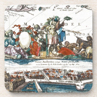NEW AMSTERDAM, 1673 DRINK COASTER