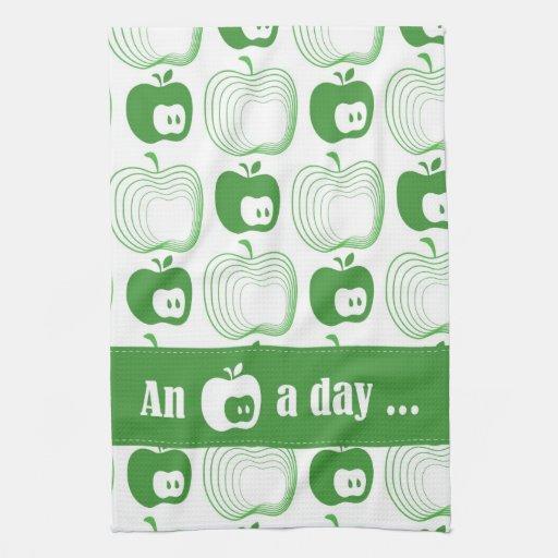 """NEW """"An apple a day ..."""" Tea Towel"""