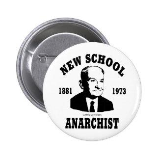 New Anarchist  --  Ludwig von Mises Pinback Button