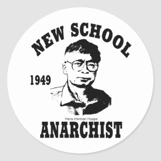 New Anarchists -- Hans-Hermann Hoppe Classic Round Sticker