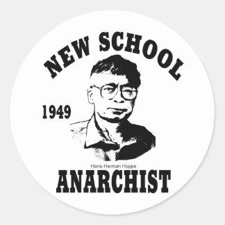 New Anarchists -- Hans-Hermann Hoppe Classic Round Sticker