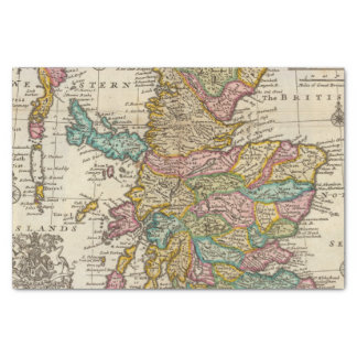 """New and correct map of Scotland and the Isles 10"""" X 15"""" Tissue Paper"""