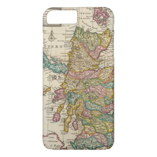 New and correct map of Scotland and the Isles iPhone 8 Plus/7 Plus Case
