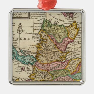 New and correct map of Scotland and the Isles Metal Ornament