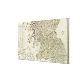 New and correct map of Scotland Canvas Print