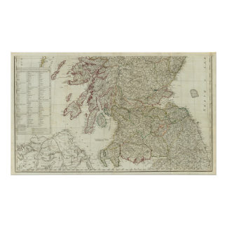 New and correct map of Scotland Poster