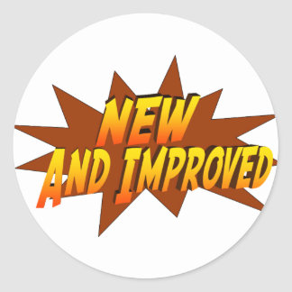 New And Improved Stickers | Zazzle
