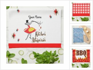 New and Retro Kitchen Towels