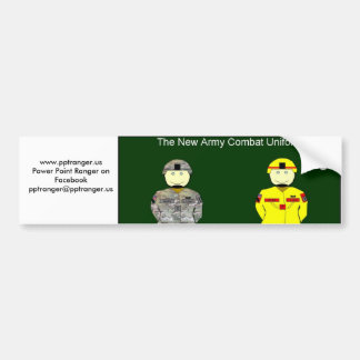 New Army Combat Uniform Bumper Sticker
