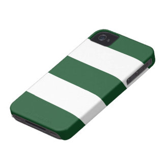 New Army Green & White Stripe iPhone Case Gift Case-Mate iPhone 4 Cases