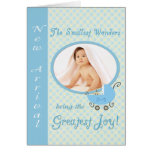 New Arrival, Blue - Photo card template
