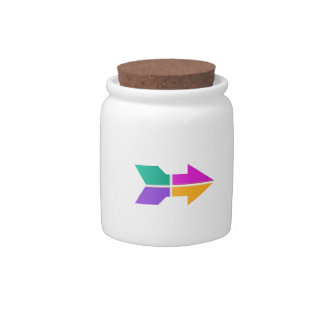 New ARROW Direction Compass Attitude LOWPRICE Candy Jar