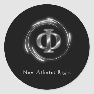 New Atheist Right Classic Round Sticker
