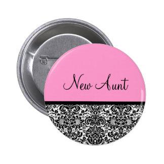 New Aunt 2 Inch Round Button