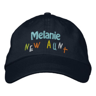 NEW AUNT Custom Name NAVY BLUE A02 Embroidered Hat