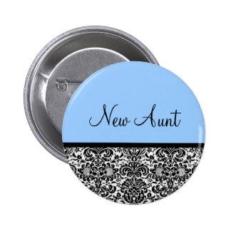 New Aunt Pinback Button