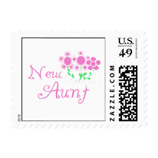 New Aunt Pink Flowers T-shirts and Gifts Postage