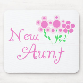 New Aunt Pink Flowers Tshirts and Gifts Mouse Pad