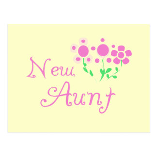 New Aunt Pink Flowers Tshirts and Gifts Postcard