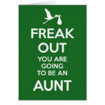 New Aunt Pregnancy Announcement Greeting Cards