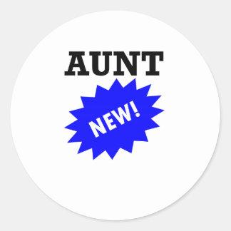 New Aunt Round Stickers