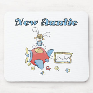 New Auntie - Airplane Tshirts and Gifts Mouse Pad