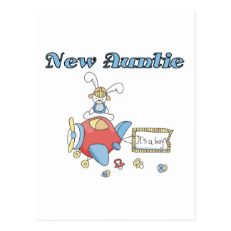 New Auntie - Airplane Tshirts and Gifts Postcard
