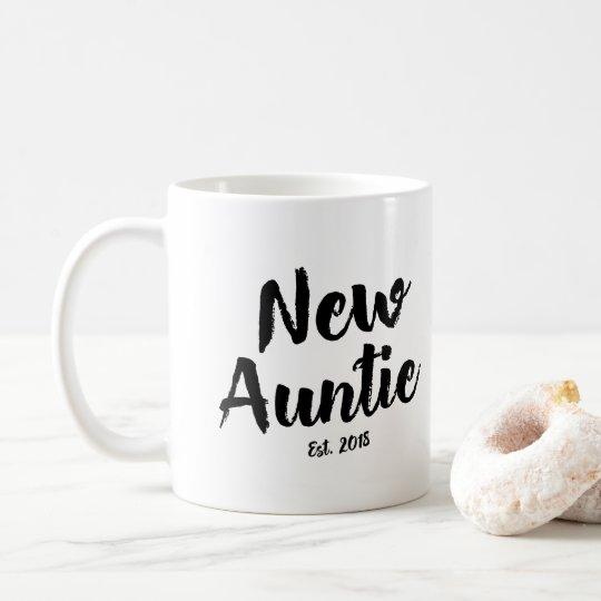 New Auntie Est 2018 Future Aunt Gift Coffee Mug