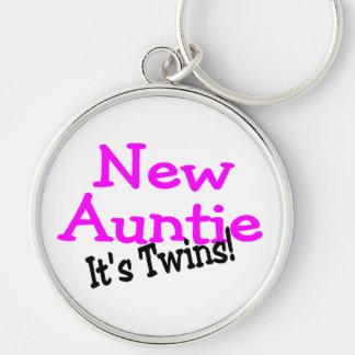 New Auntie Its Twins Keychain