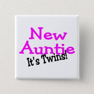 New Auntie Its Twins Pinback Button