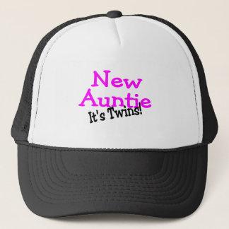 New Auntie Its Twins Trucker Hat